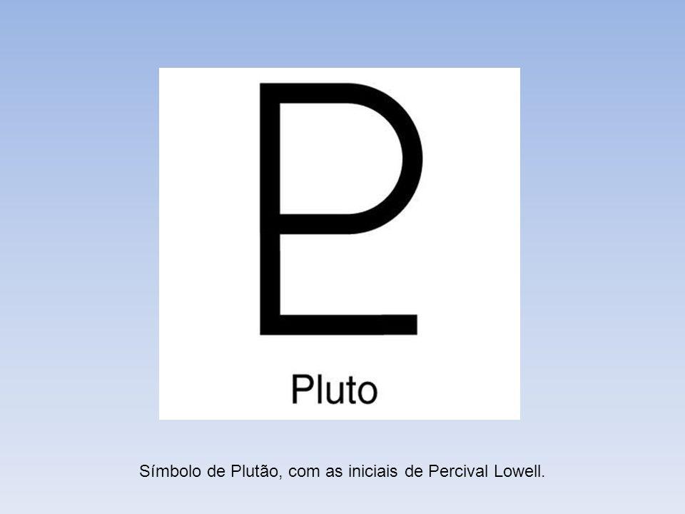 Símbolo de Plutão, com as iniciais de Percival Lowell.