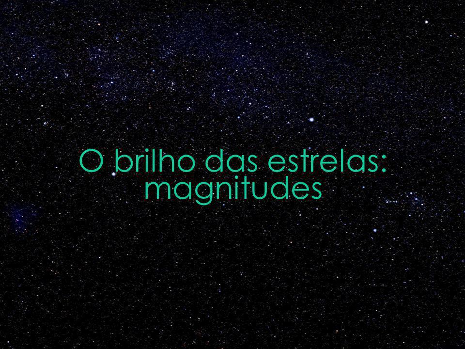 O brilho das estrelas: magnitudes