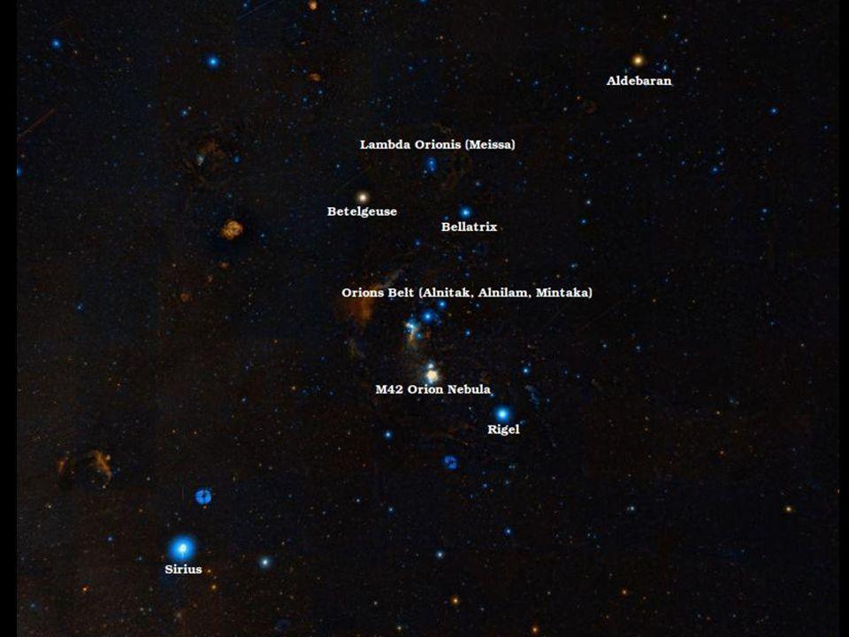 Contemplavamos o ceu noturno em uma localidade do interior. Orion