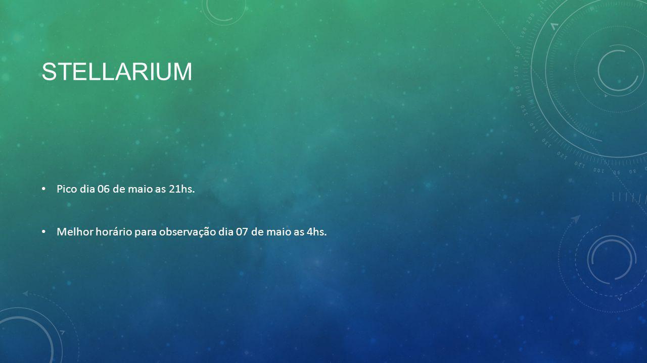 Stellarium Pico dia 06 de maio as 21hs.