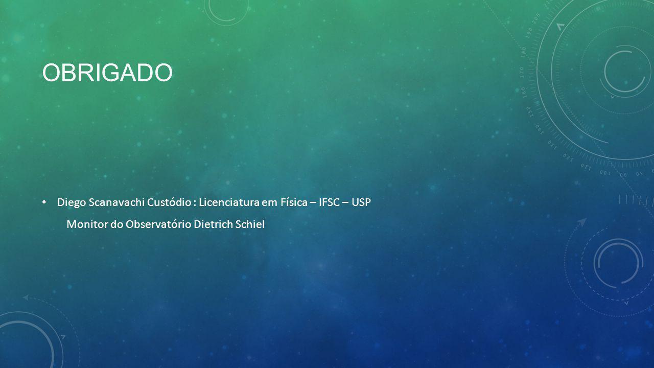 Obrigado Diego Scanavachi Custódio : Licenciatura em Física – IFSC – USP.