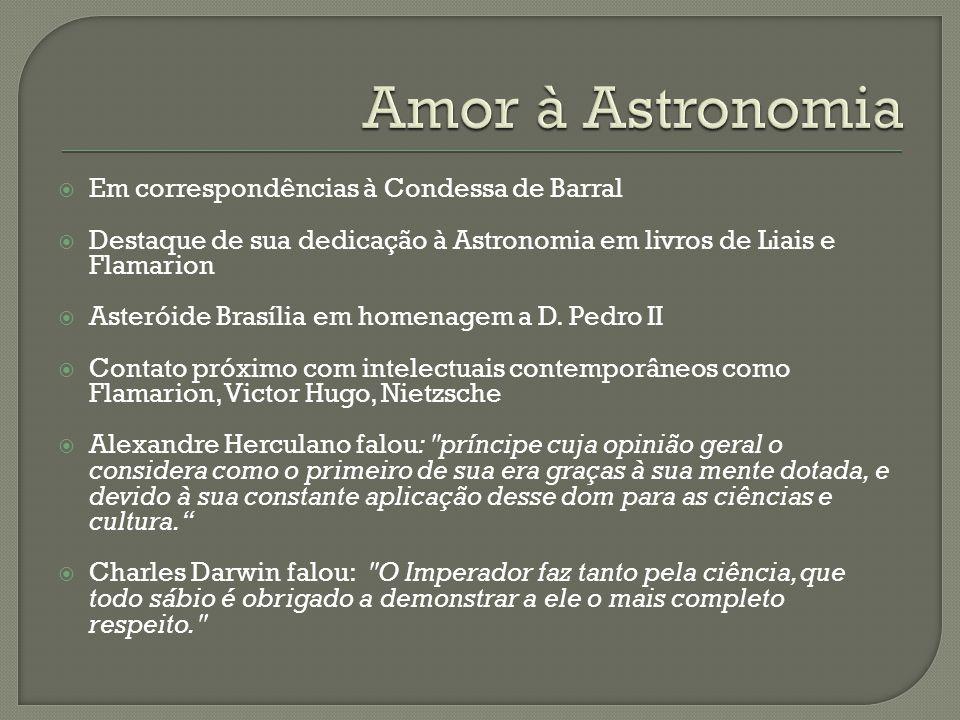 Amor à Astronomia Em correspondências à Condessa de Barral