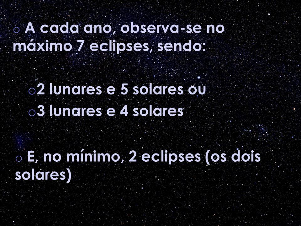 2 lunares e 5 solares ou 3 lunares e 4 solares