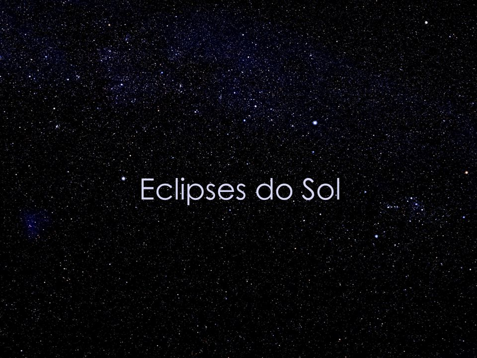 Eclipses do Sol