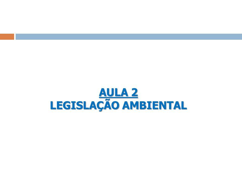 AULA 2 LEGISLAÇÃO AMBIENTAL