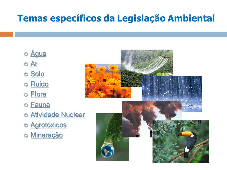 Temas específicos da Legislação Ambiental