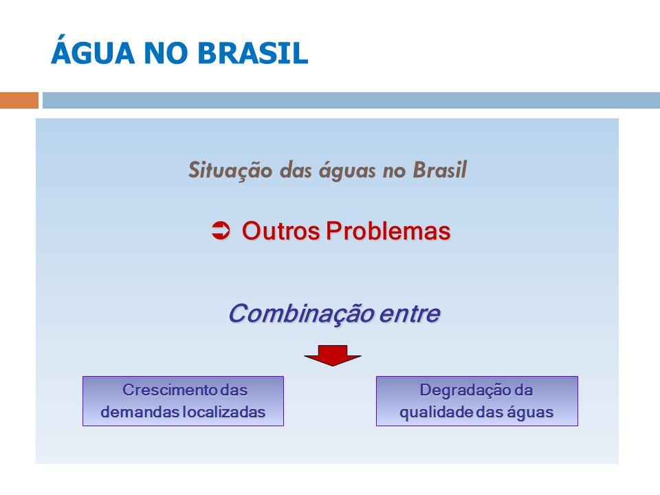ÁGUA NO BRASIL Situação das águas no Brasil Outros Problemas