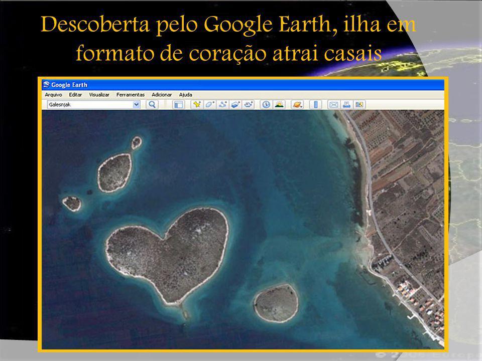 Descoberta pelo Google Earth, ilha em formato de coração atrai casais