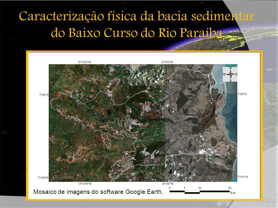 Caracterização física da bacia sedimentar do Baixo Curso do Rio Paraíba