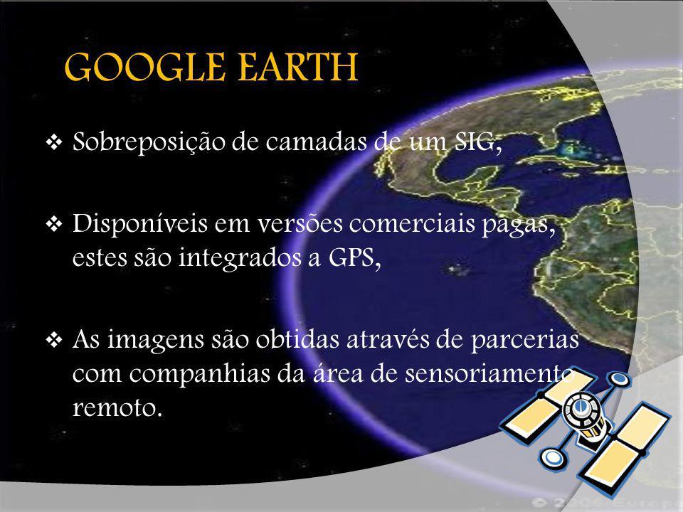 G GOOGLE EARTH Sobreposição de camadas de um SIG,