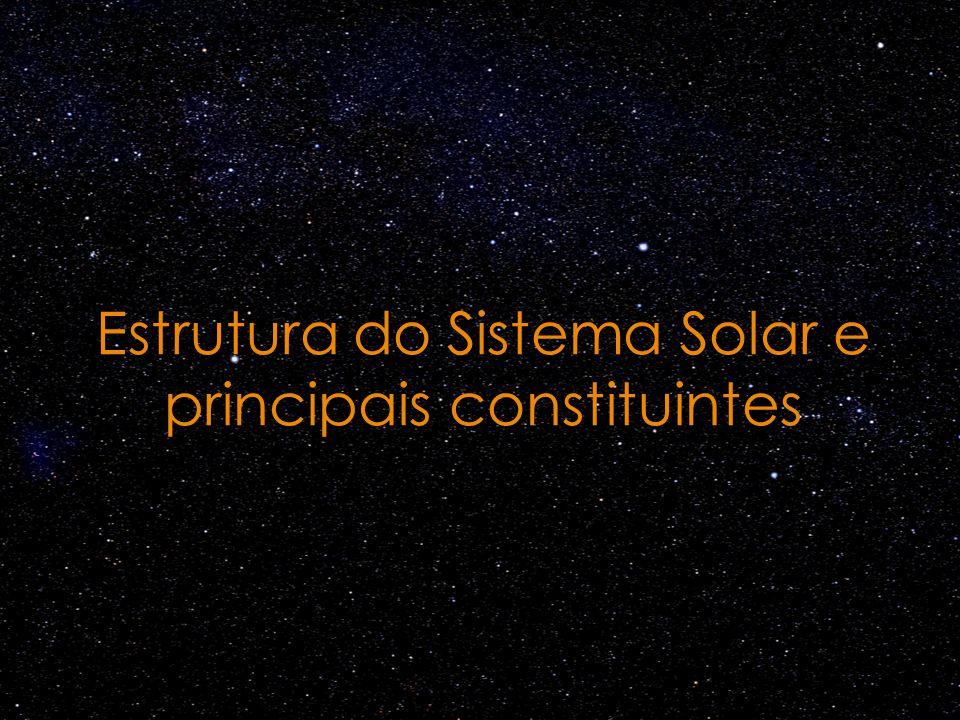 Estrutura do Sistema Solar e principais constituintes