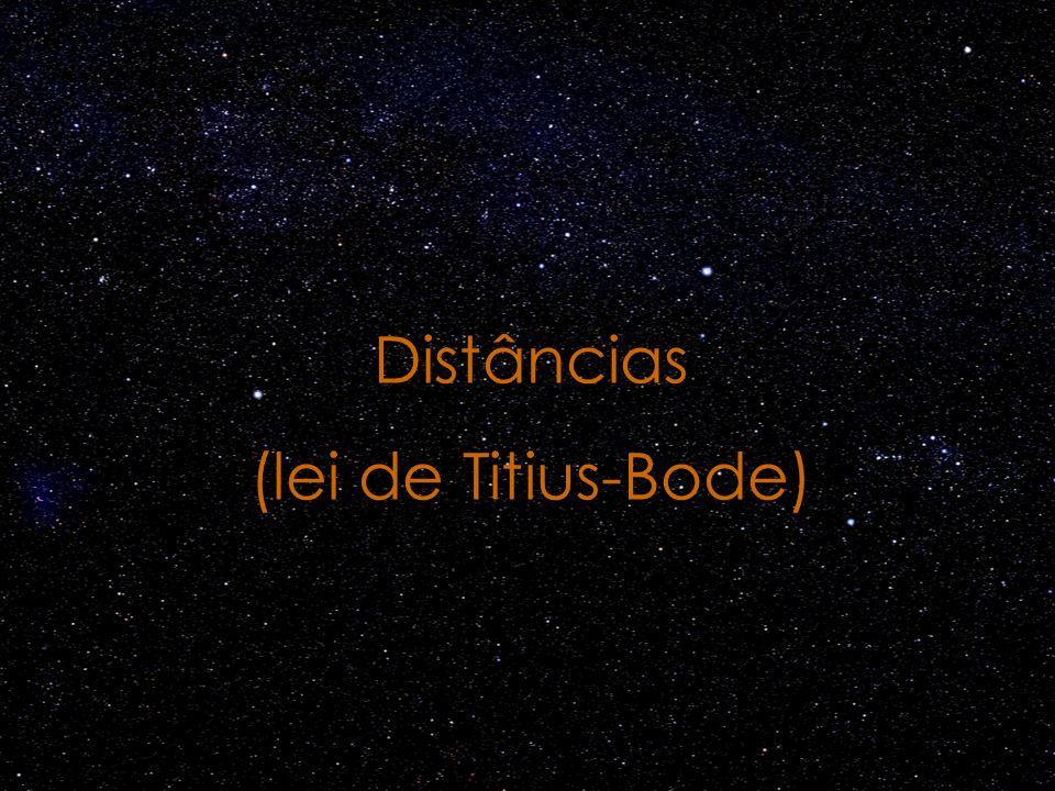 Distâncias (lei de Titius-Bode)