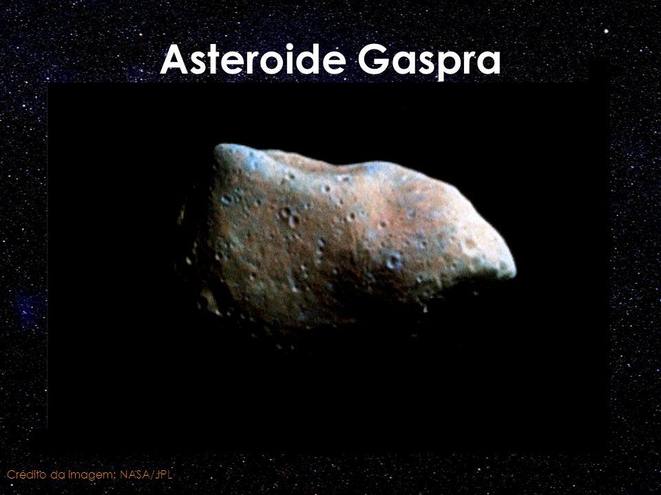 Asteroide Gaspra Crédito da imagem: NASA/JPL