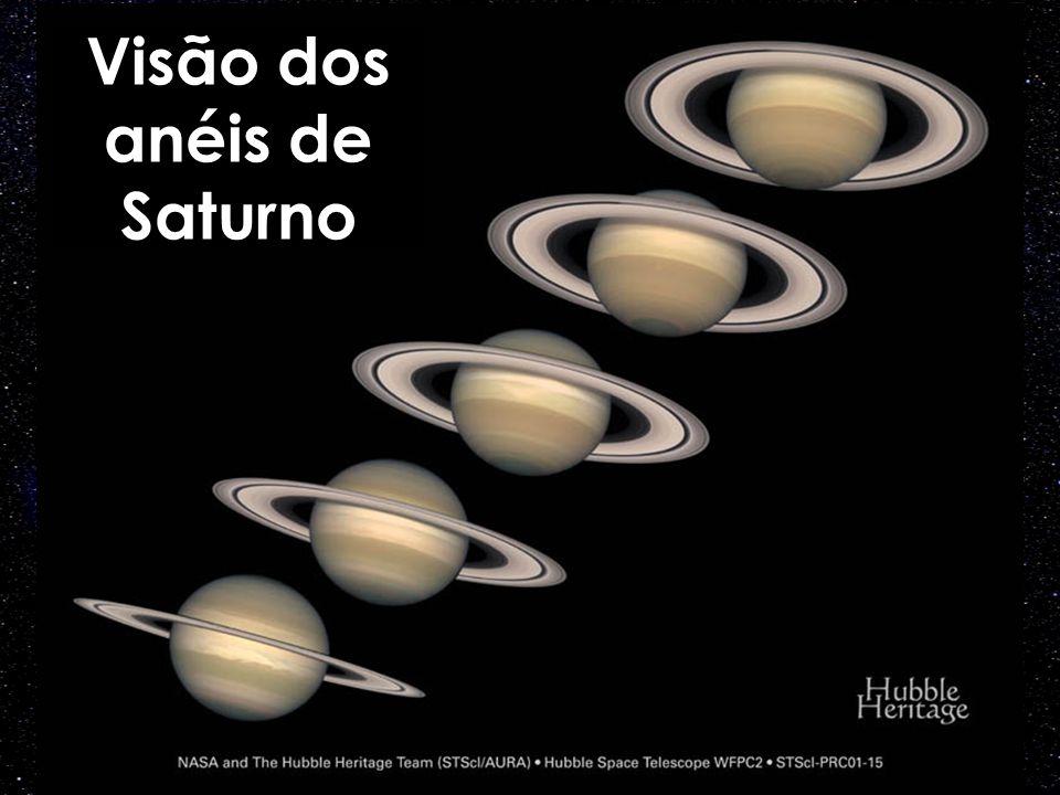 Visão dos anéis de Saturno