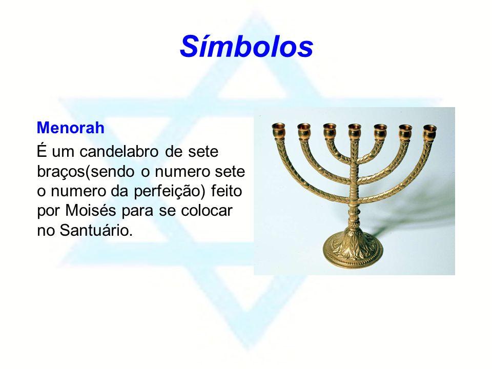 Símbolos Menorah.