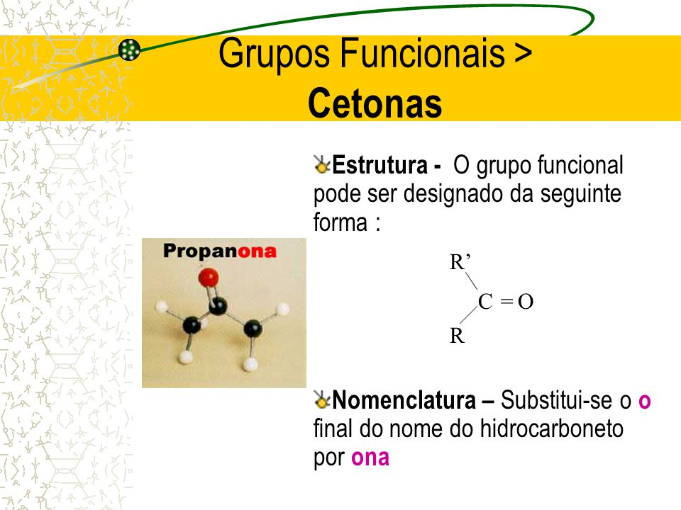 Grupos Funcionais > Cetonas
