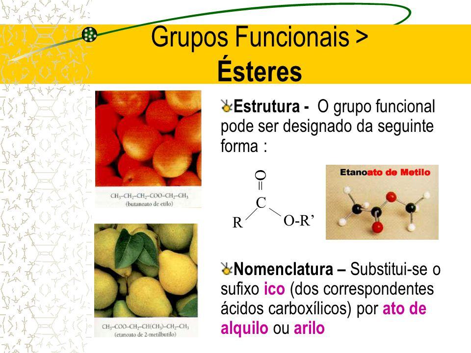 Grupos Funcionais > Ésteres