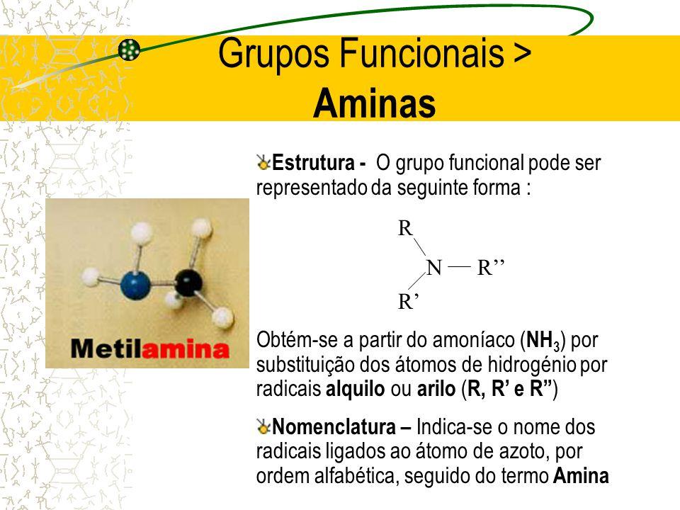 Grupos Funcionais > Aminas