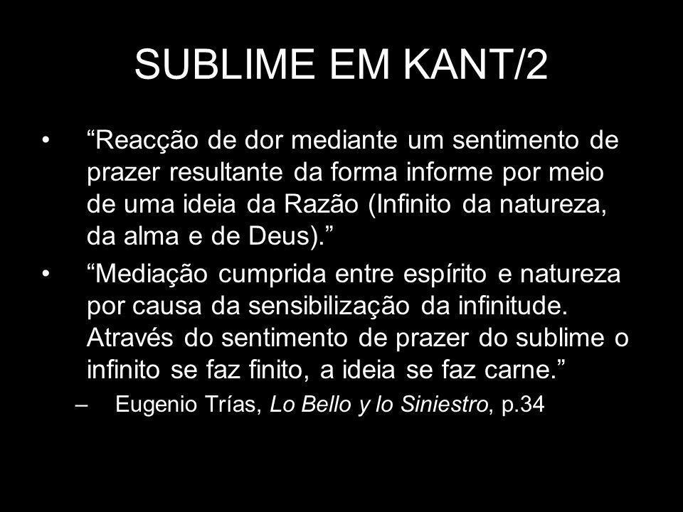 SUBLIME EM KANT/2