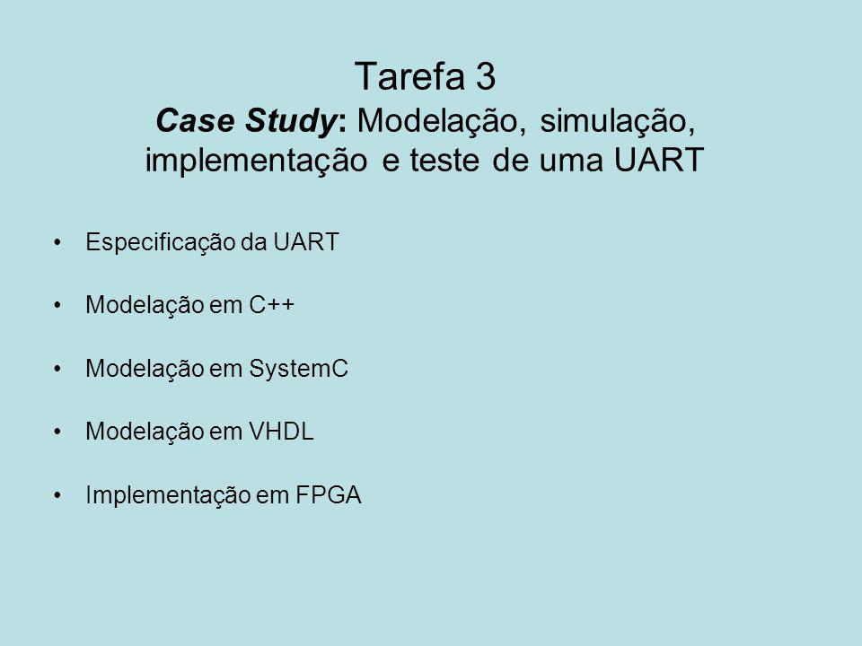 Tarefa 3 Case Study: Modelação, simulação, implementação e teste de uma UART