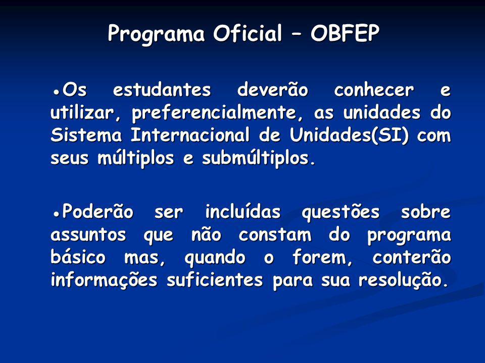 Programa Oficial – OBFEP