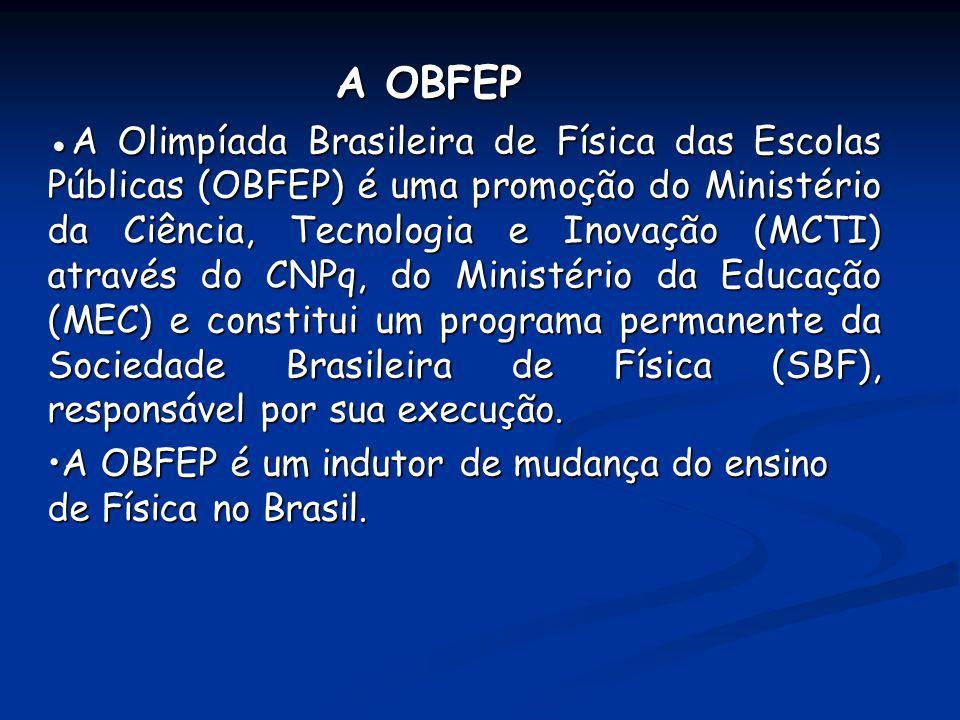 •A OBFEP é um indutor de mudança do ensino de Física no Brasil.