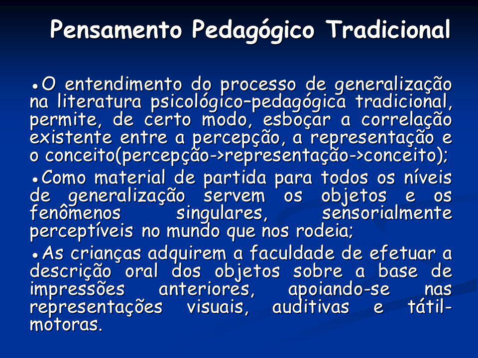 Pensamento Pedagógico Tradicional