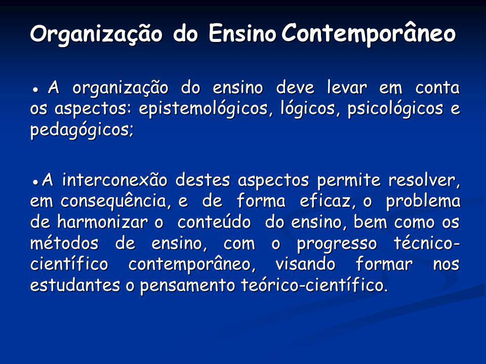 Organização do Ensino Contemporâneo