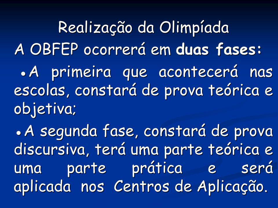 Realização da Olimpíada