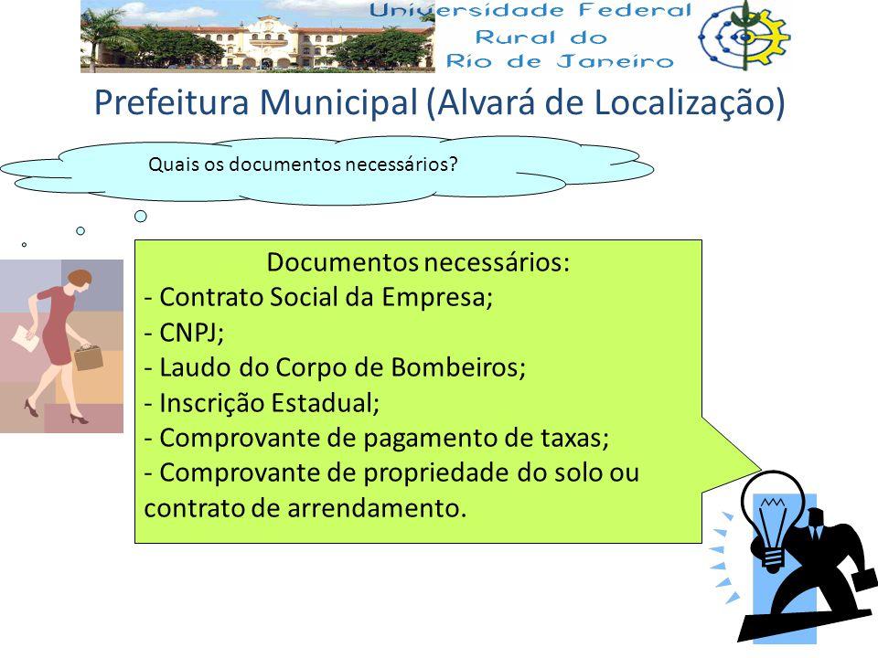 Prefeitura Municipal (Alvará de Localização)