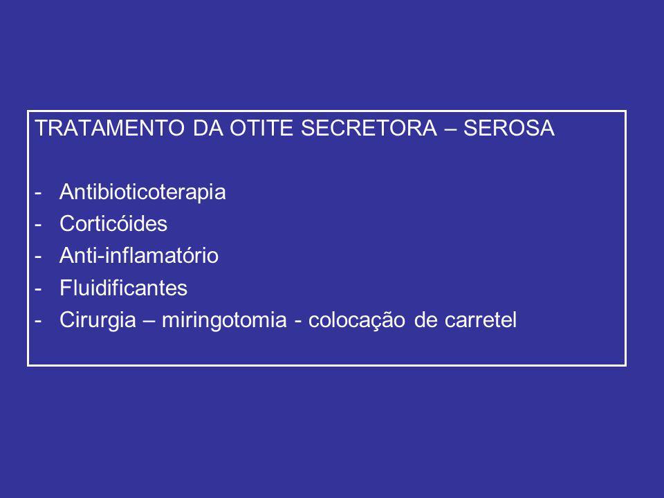 TRATAMENTO DA OTITE SECRETORA – SEROSA