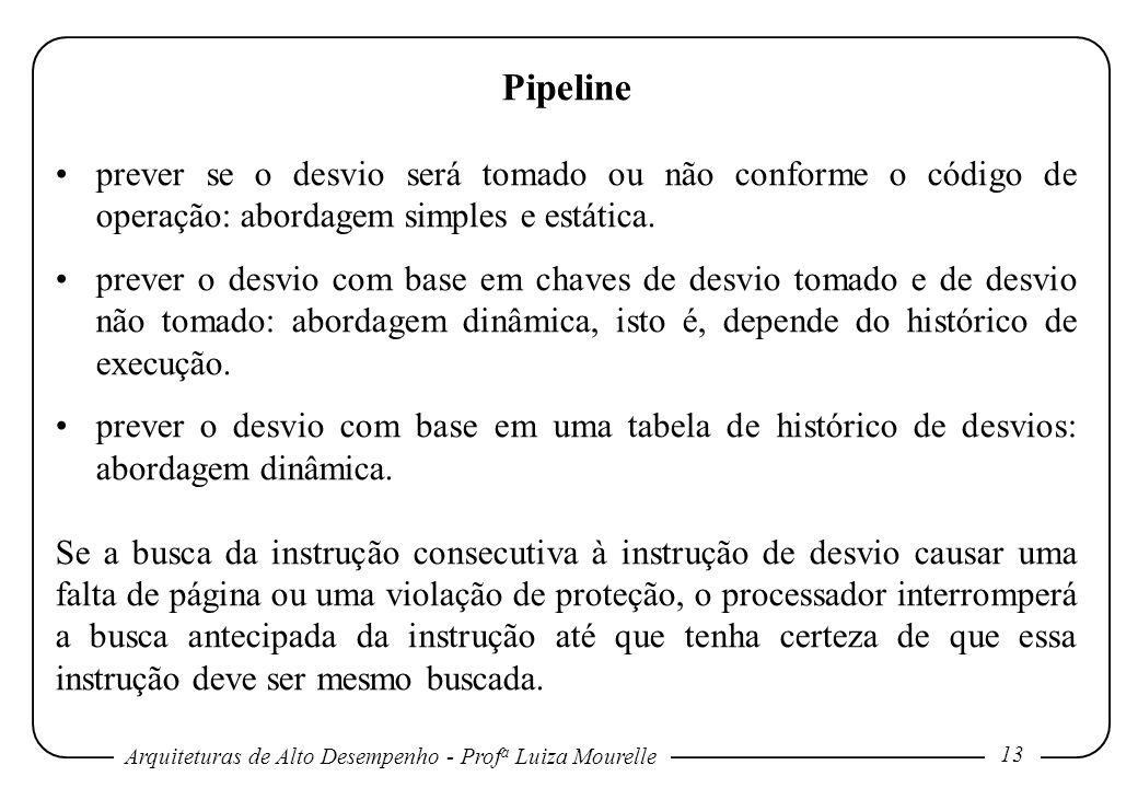 Pipeline prever se o desvio será tomado ou não conforme o código de operação: abordagem simples e estática.