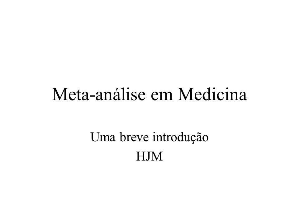 Meta-análise em Medicina