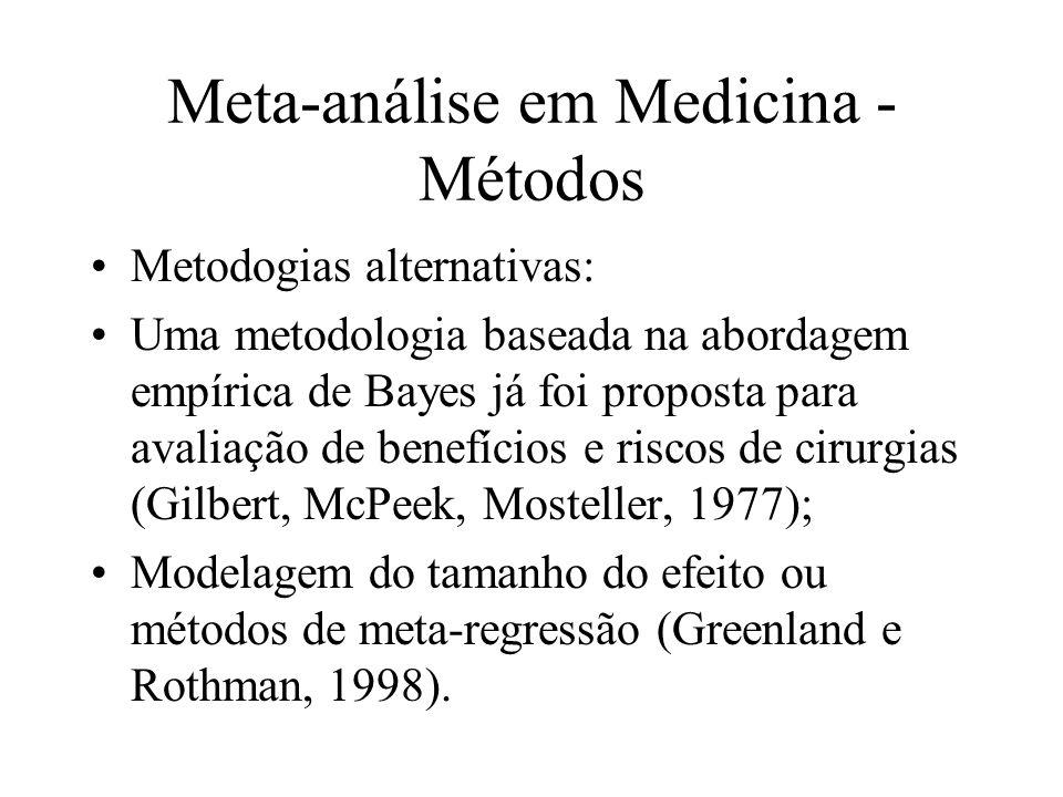 Meta-análise em Medicina - Métodos