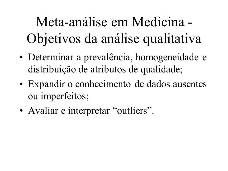 Meta-análise em Medicina - Objetivos da análise qualitativa