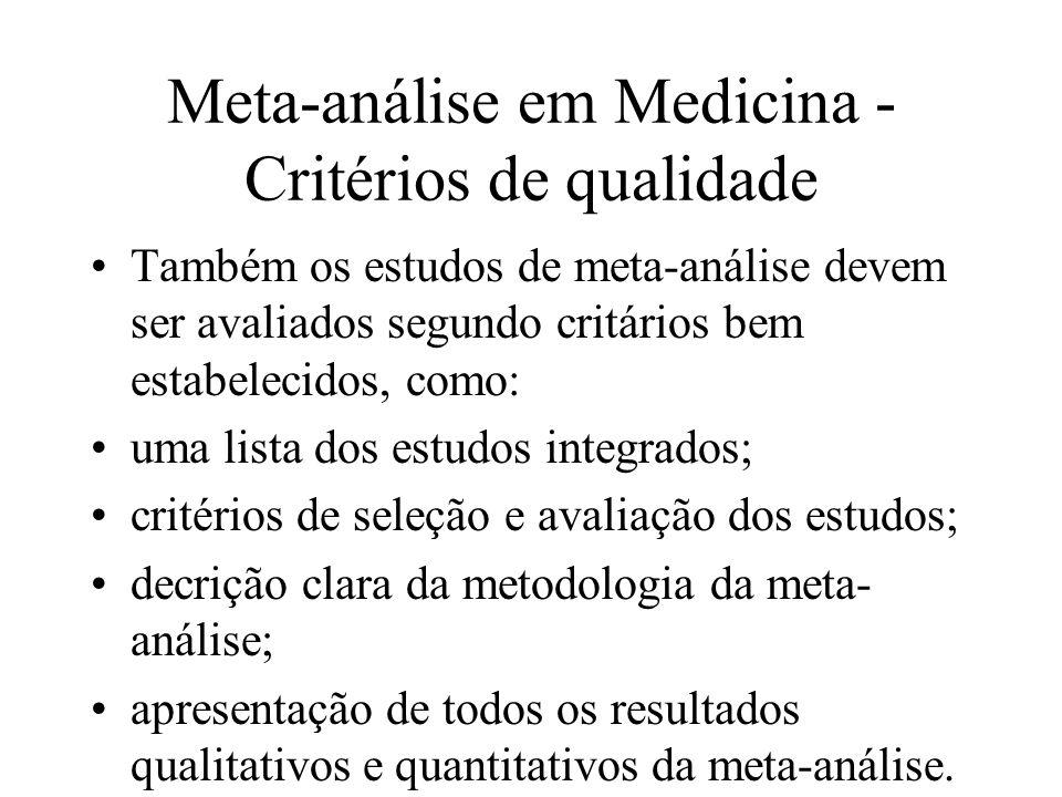 Meta-análise em Medicina - Critérios de qualidade