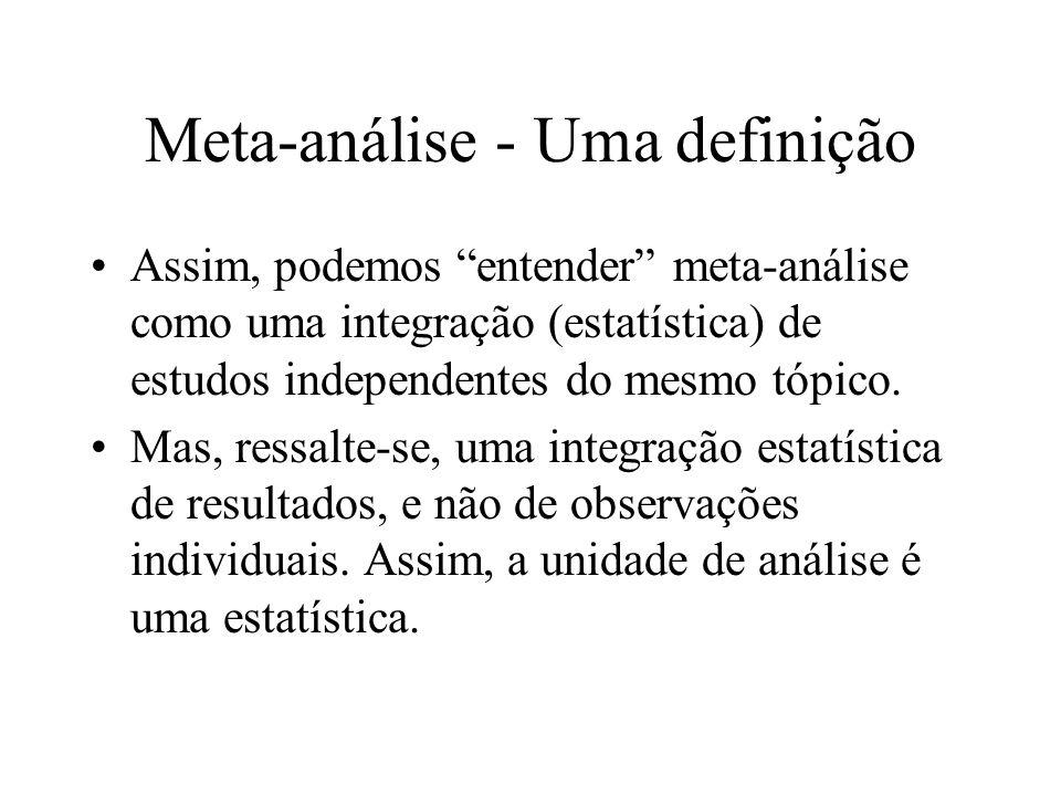 Meta-análise - Uma definição