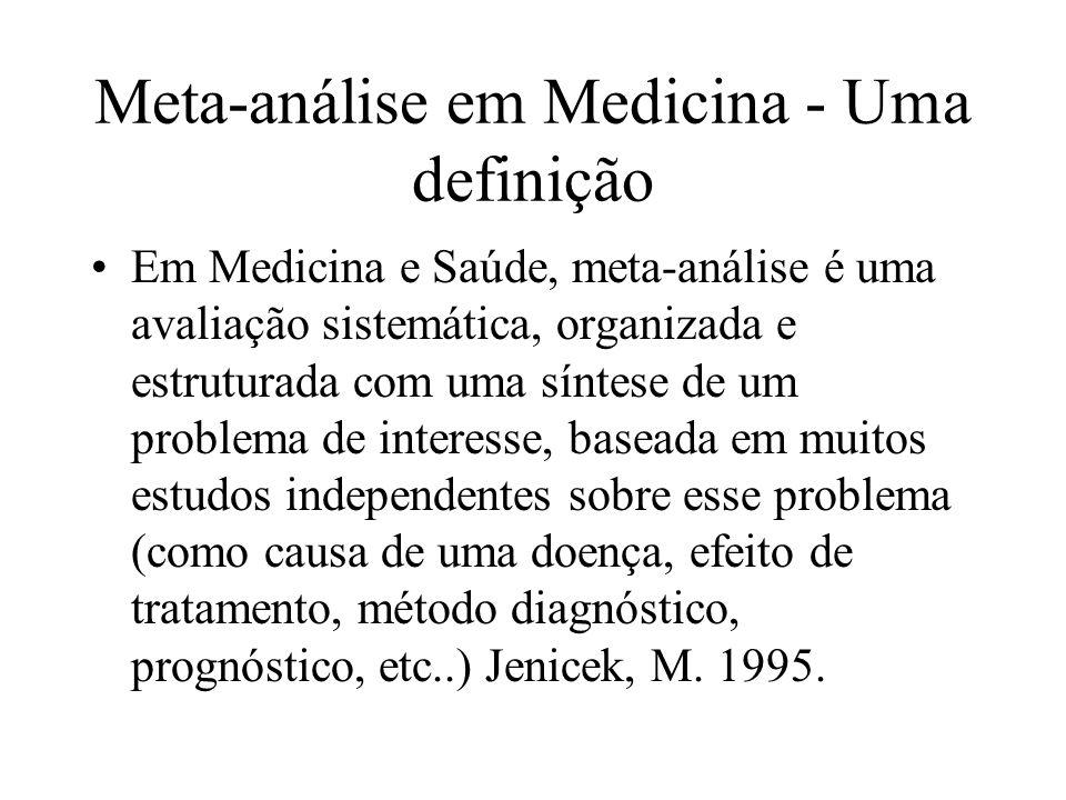 Meta-análise em Medicina - Uma definição
