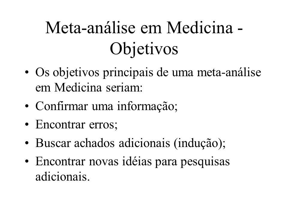 Meta-análise em Medicina - Objetivos