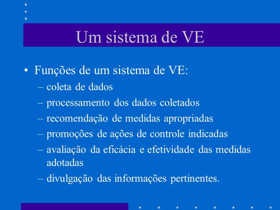 Um sistema de VE Funções de um sistema de VE: coleta de dados