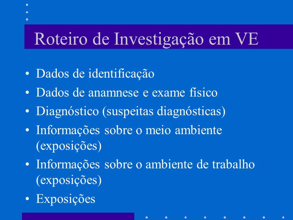 Roteiro de Investigação em VE