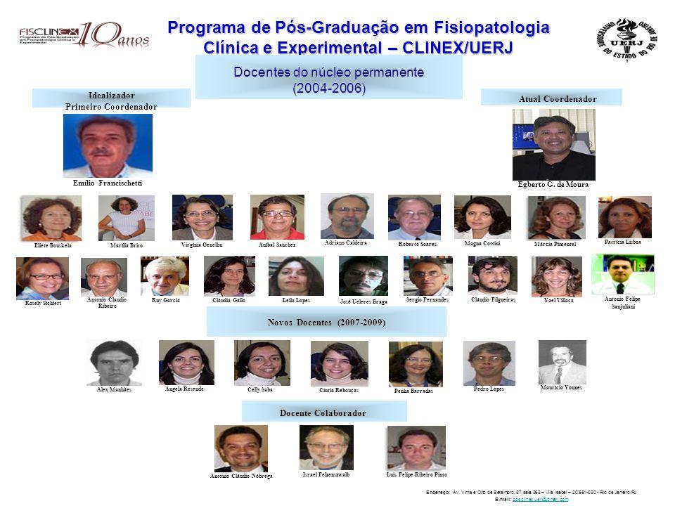 Programa de Pós-Graduação em Fisiopatologia Clínica e Experimental – CLINEX/UERJ