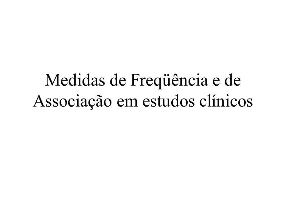 Medidas de Freqüência e de Associação em estudos clínicos