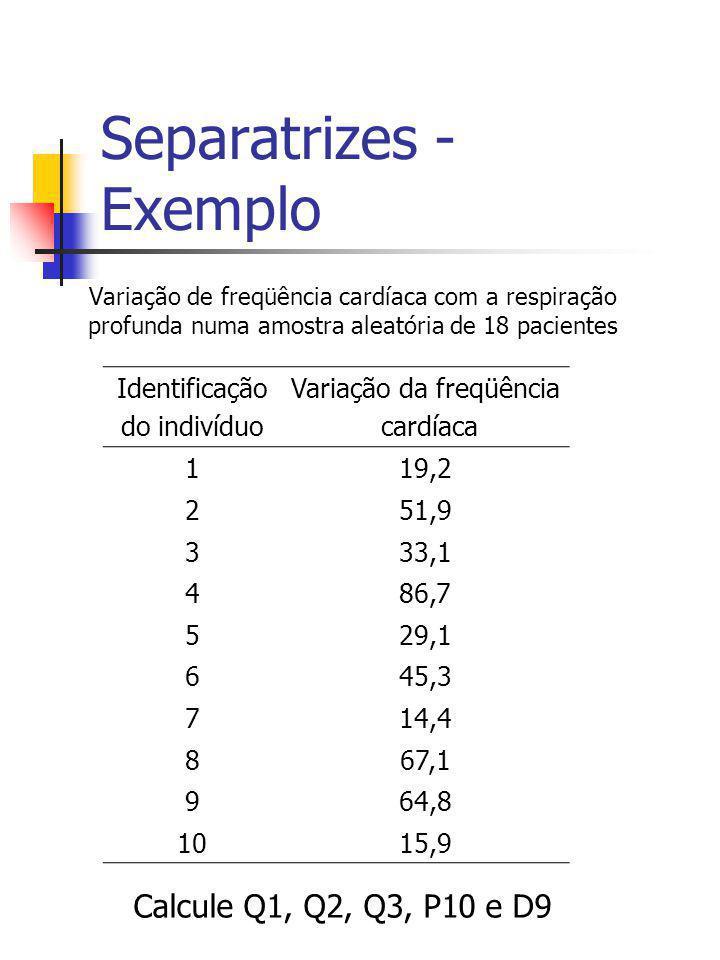 Separatrizes - Exemplo