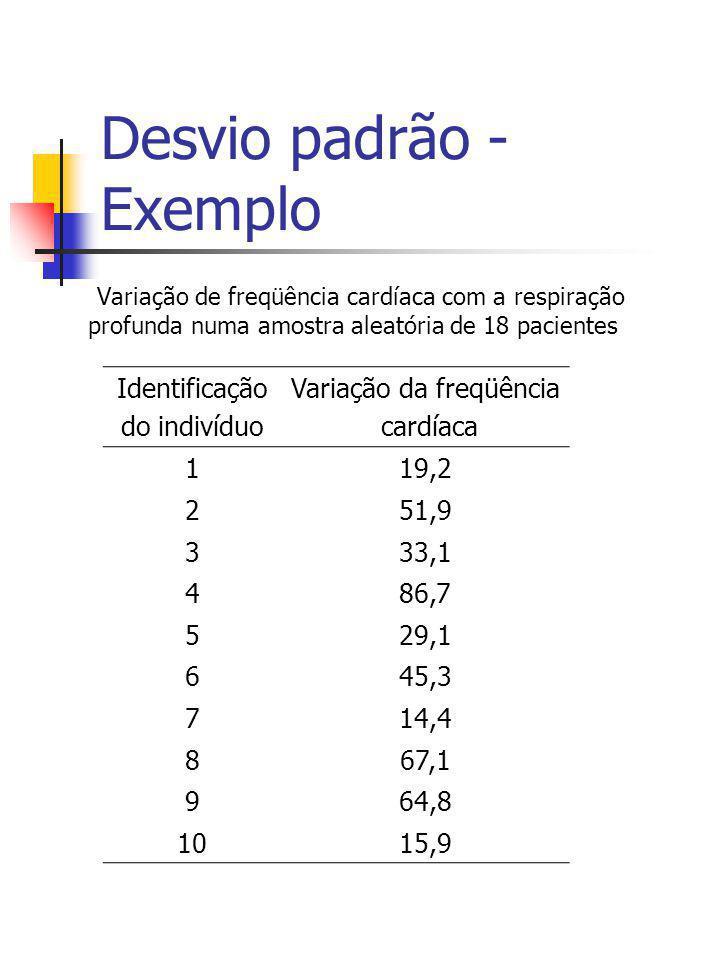 Desvio padrão - Exemplo