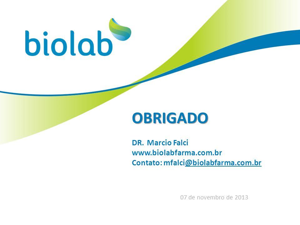 OBRIGADO DR. Marcio Falci www.biolabfarma.com.brwolabfarma.com.br
