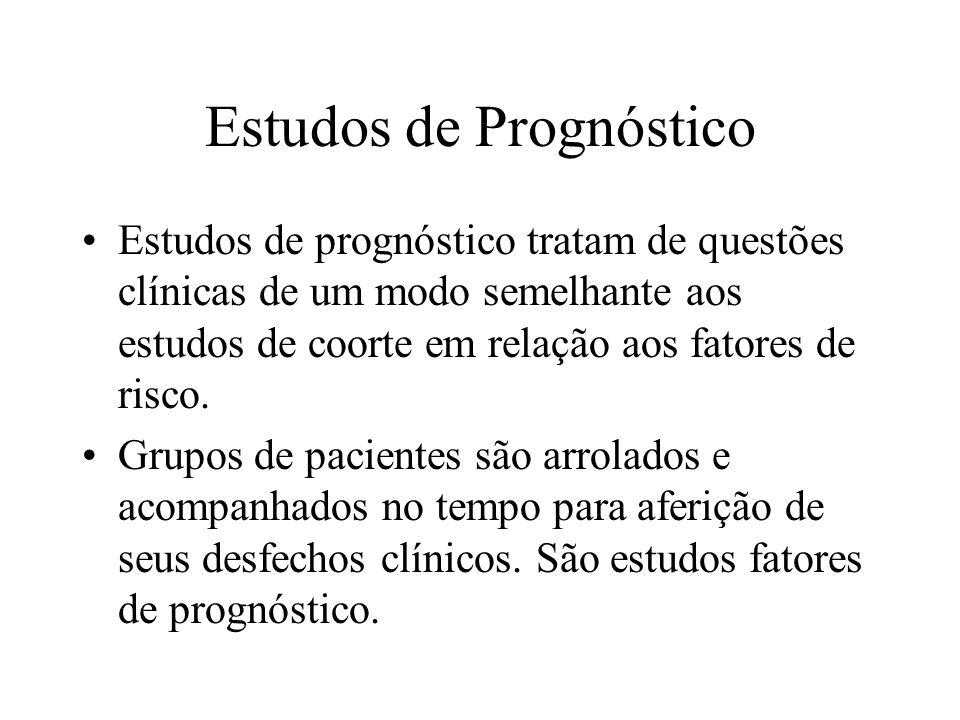 Estudos de Prognóstico