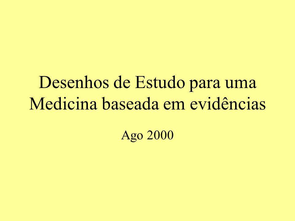 Desenhos de Estudo para uma Medicina baseada em evidências