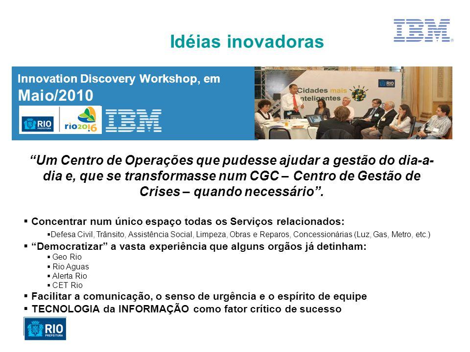 Idéias inovadoras Innovation Discovery Workshop, em Maio/2010.