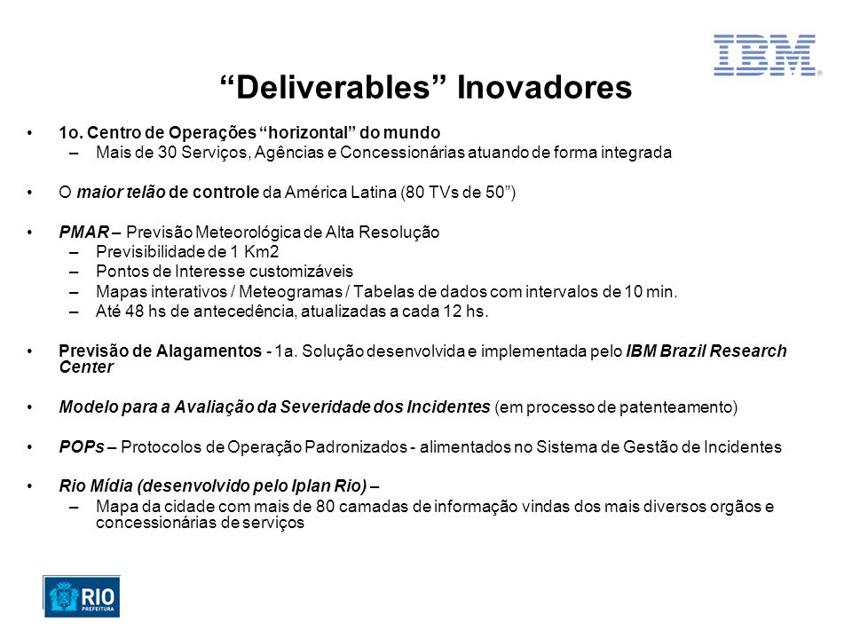 Deliverables Inovadores